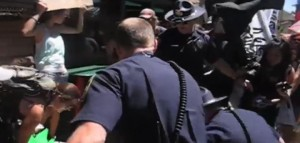 Flagstaff Police Aggressively Disrupt Protect the Peaks March – VIDEO & PICS