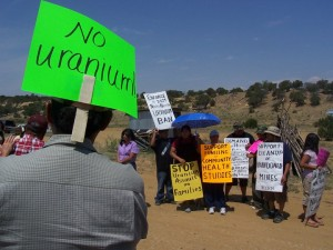 Undated Photo of Protest Against Uranium - Credit: MASE Coalition