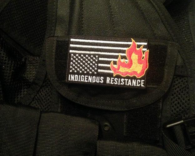 Indigenous Resistance Burning Flag Morale Patch