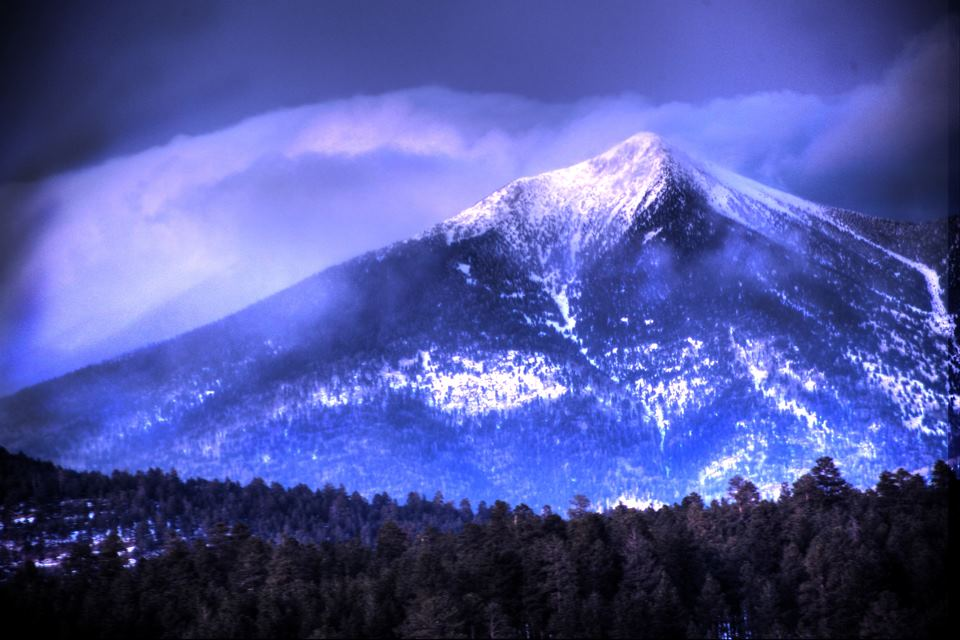 The Holy San Francisco Peaks. Photo by Sam Minkler.