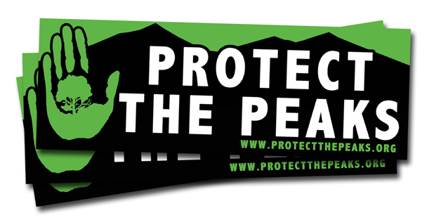 Protect the Peaks Stickers
